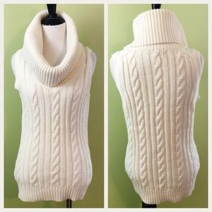 Banana Republic Cable Knit Cocoon Sweater Sz M